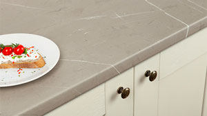 Cream Stone Laminate Worktops Gallery