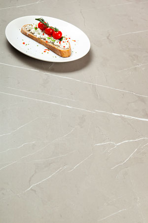 Cream Stone Laminate Worktop Upstand - 3m x 120mm x18mm
