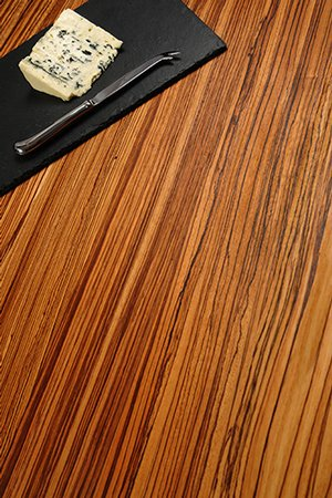 Full stave zebrano worktops