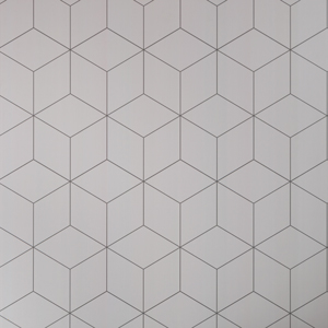 Geometric tile splashback back