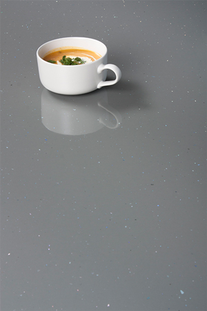 Grey Sparkle Laminate Worktop Upstand - Andromeda - 3M x 120mm x 18mm