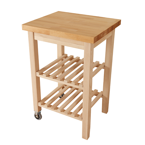 wooden kitchen trolley with beech worktop wood butchers