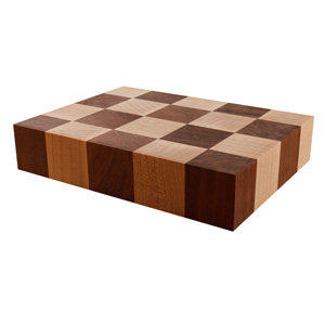 Maple & Walnut Mixed End Grain Butchers Block Sample
