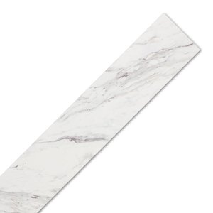 Marble Laminate Worktop Edging Strip - Calcutta - 1300mm x 44mm