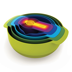Joseph Joseph Nest 9-Piece Nesting Bowl Set - Multicolour