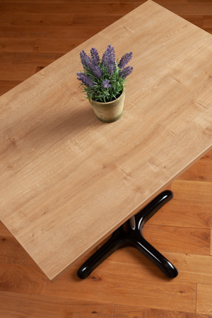 Laminate Oak Rectangle Table Top - 600mm x 900mm x 22mm