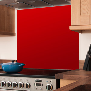 Red Glass Splashback - 750mm x 600mm x 6mm
