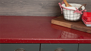 Red Sparkle Laminate Worktops - Andromeda Gallery