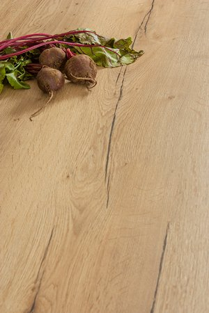 Laminate Full Stave Rustic Oak Worktop Upstand - 3m x 120mm x 18mm