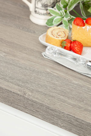 Silver oak worktops edge