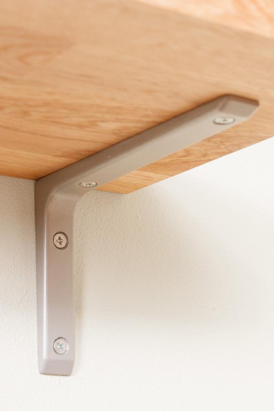 silver wall shelf bracket