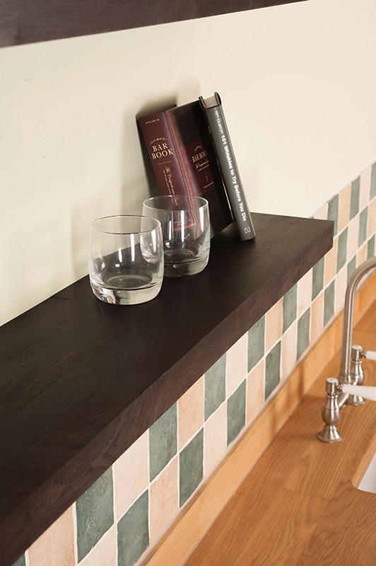 solid black oak floating shelves black oak shelving. Black Bedroom Furniture Sets. Home Design Ideas