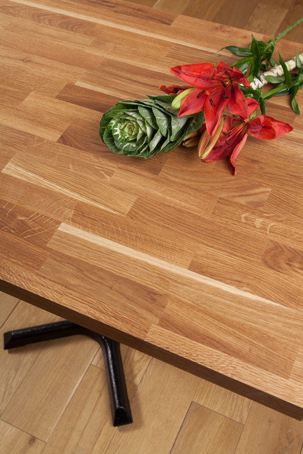 Solid Oak Restaurant Tabletop Rectangular 40mm