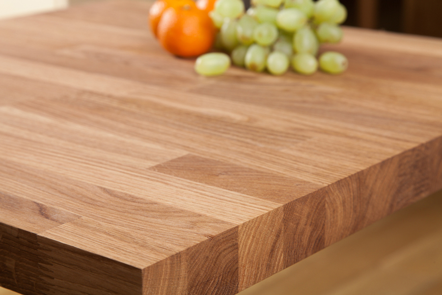 Solid oak restaurant tabletop square 40mm for Html table th always on top