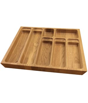 Solid Oak Cutlery Drawer Insert - W510mm X 420mm X 40mm