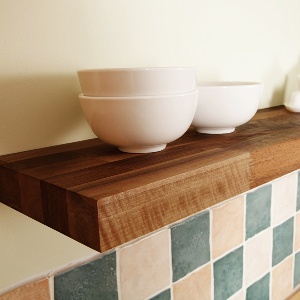 Solid Walnut Floating Shelf 300mm X 200mm X 40mm