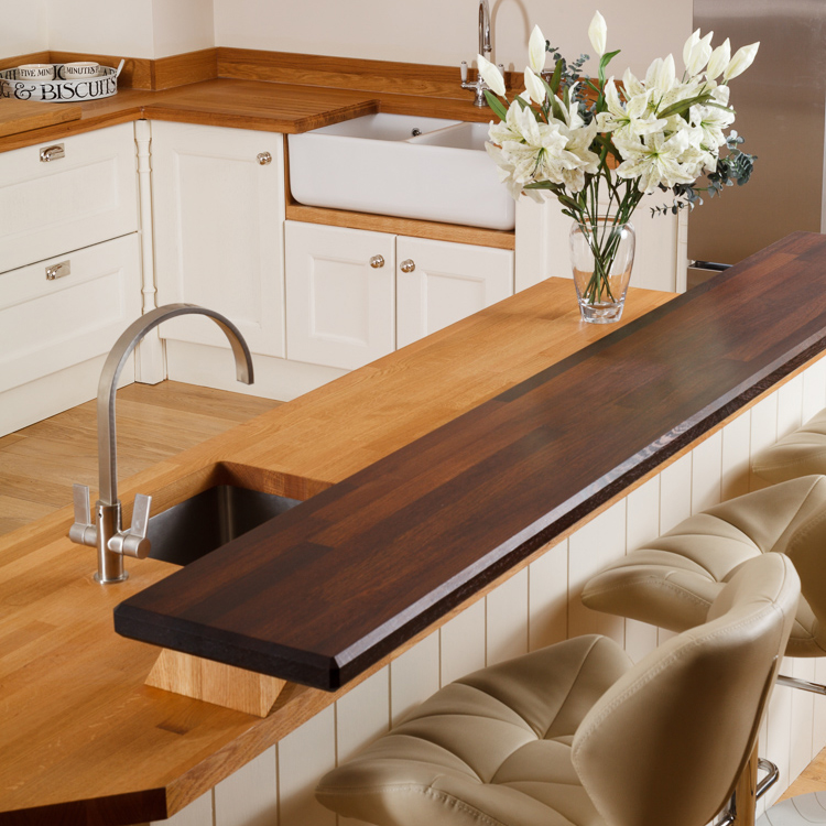 Kitchen Ideas Wooden Worktops: Solid Wood Breakfast Bar Worktops & Kitchen Breakfast Bars