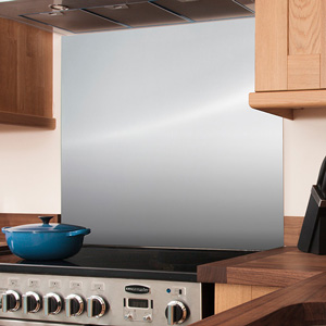 Stainless Steel Splashback - 750mm x 900mm x 8mm