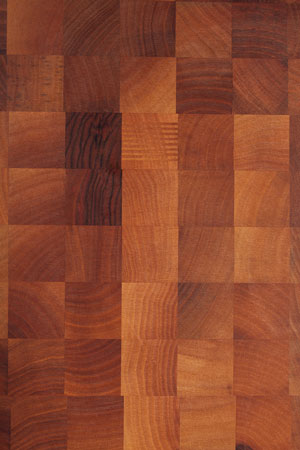 Walnut end grain butchers block grain