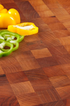 Walnut end grain butchers block worktops