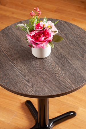 Wenge laminate table tops circle