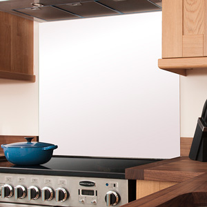 White Glass Splashback - 750mm x 1200mm x 6mm