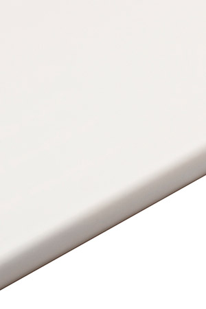 White gloss bathroom worktop