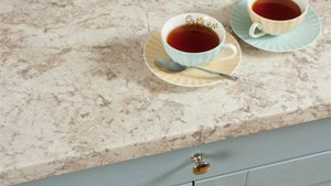 White Granite Laminate Worktops (Spring Carnival) Gallery
