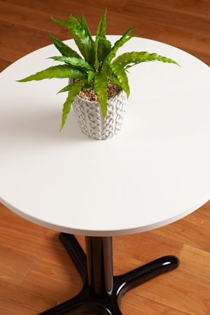 White Round Table Top - 600mm x 22mm