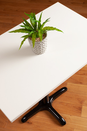 White laminate table tops rectangle