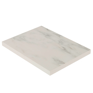 White Marble Solid Laminate Sample