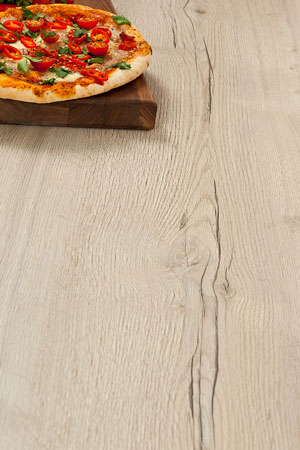 White Oak Laminate Worktop Upstand - 3m x 120mm x18mm