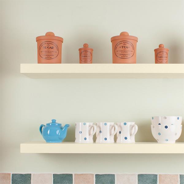 White Floating Shelves Kitchen: White Floating Shelves (Solid Oak