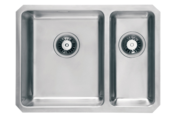 WEX Atlas Stainless Steel Left Hand Sink - 1.5 Bowl