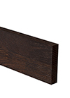 Black Oak Worktop Upstand 3M X 80 X 18mm