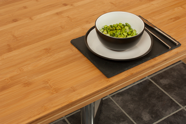 Caramel bamboo replacement table tops are made from highly-sustainable, hard-wearing bamboo timber.