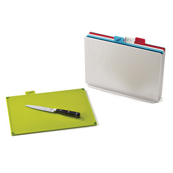 Joseph Joseph Colour Coded Index Chopping Board Set - Silver (Large)