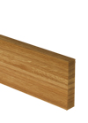 Full Stave Prime Oak Worktop Upstand 3M X 100 X 20mm - 40mm Stave