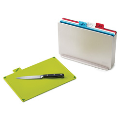 Joseph Joseph Index Colour Coded Chopping Board Set - Silver (Regular)