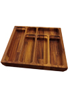 Solid Iroko Cutlery Drawer Insert - W410mm X 420mm X 40mm