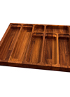 Solid Iroko Cutlery Drawer Insert - W310mm X 420mm X 40mm