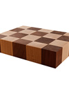 Maple & Walnut Mixed End Grain Butchers Block Sample 200mm X 150mm X 40mm