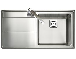 Rangemaster Arlington Square Kitchen Sink - Single Bowl (LH Drainer)