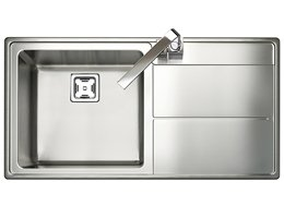 Rangemaster Arlington Square Kitchen Sink - Single Bowl (RH Drainer)