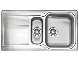 Glendale Stainless Steel Rangemaster Reversible Sink - 1.5 Bowl