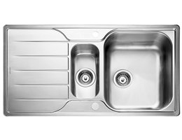 Rangemaster Michigan Modern Stainless Steel Sink - 1.5 Bowl
