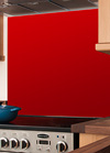 Red Glass Splashback - 750mm x 1200mm x 6mm