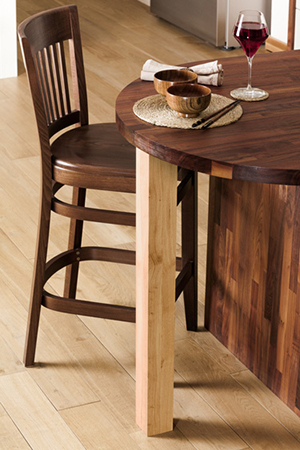 Wood Breakfast Bar Leg (Oak - Sanded)