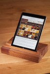 Solid Iroko iPad Stand / Tablet Holder