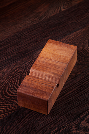 Solid Iroko iPhone Stand / Mobile Phone Holder